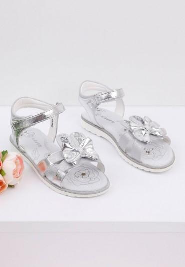Sandałki dziecięce srebrne 2 Marrow