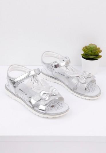 Sandałki dziecięce srebrne 2 Garner