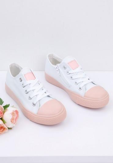 Trampki biało różowe 1 Aurel