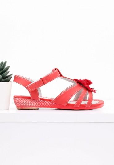 Sandałki czerwone Falk