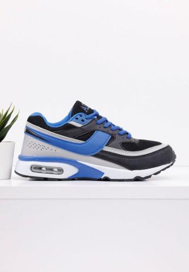 Buty sportowe czarno niebieskie 8 Walter