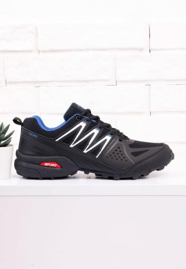 Buty sportowe czarno niebieskie 2 Stéphane