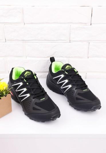 Buty sportowe czarno zielone 3 Stéphane