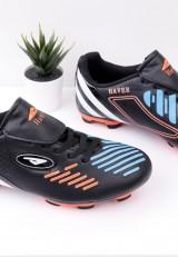 Buty piłkarskie korki czarno pomarańczowe 1 Meier