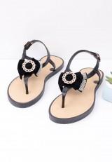 Sandałki japonki czarne 1 Sikke