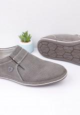 Półbuty szare pantofle wizytowe 14 Verena