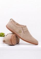 Półbuty beżowe pantofle wizytowe 11 Verena