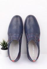 Półbuty pantofle wizytowe granatowo czerwone 8 Verena