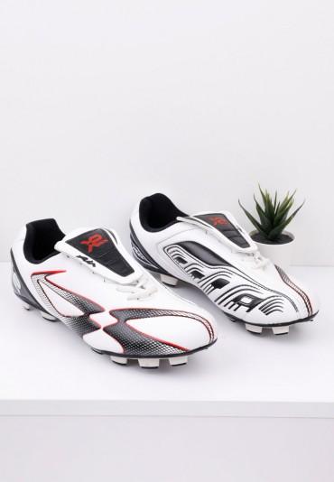 Buty sportowe korki piłkarskie biało czarne Fabian