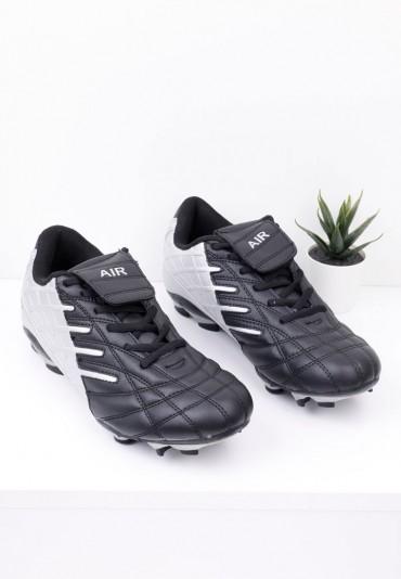 Buty sportowe korki piłkarskie czarno srebrne Blau