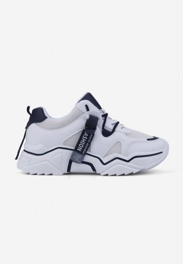 Sneakersy biało granatowe 8 Lydie