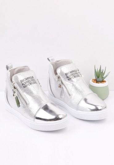 Sneakersy srebrne 2 Lara
