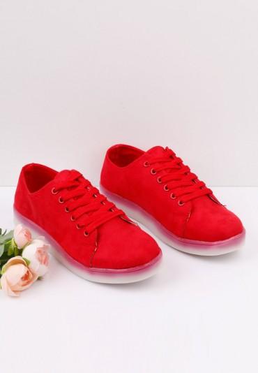Buty sportowe czerwone 8 ledy Desya