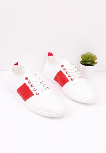 Trampki biało czerwone 1 Katerina