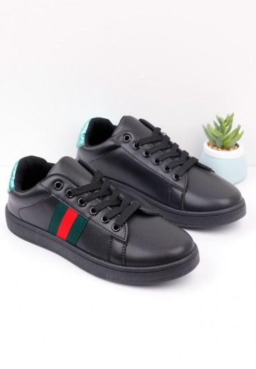 Buty sportowe czarno zielone 4 Popo