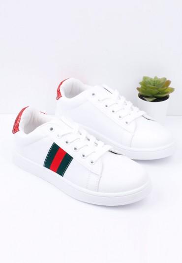 Buty sportowe biało czerwone 1 Popo