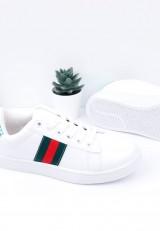 Buty sportowe biało zielone 2 Popo