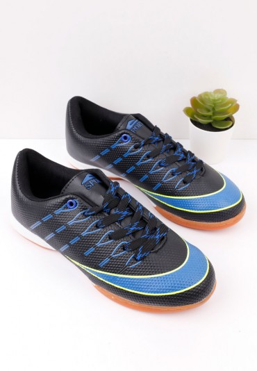 Buty sportowe halówki czarno niebieskie 3 Idette