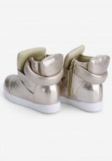 Sneakersy złote Sandrine