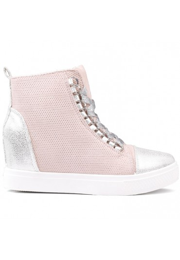 Sneakersy beżowo srebrne 5  Yelena