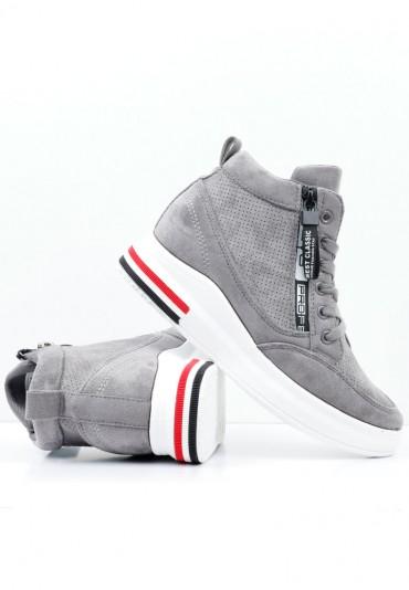 Sneakersy szaro białe 2 Borisova
