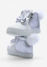 Sneakersy srebrne 5 Émilie