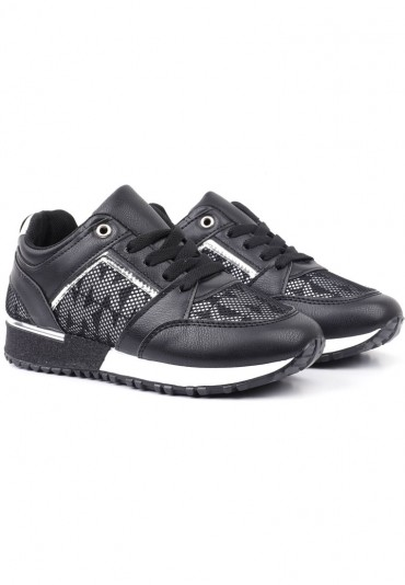 Sneakersy czarno srebrne 3 Shura