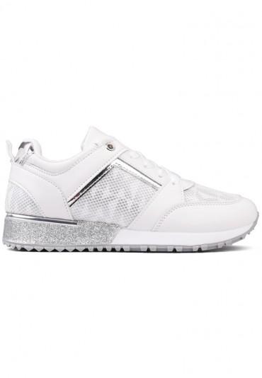 Sneakersy biało srebrne 4 Shura