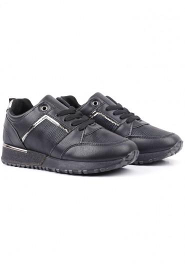Sneakersy czarno czarne 6 Shura