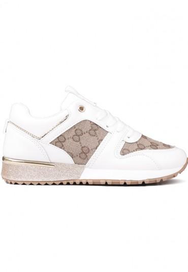 Sneakersy biało złote 2 Kolya