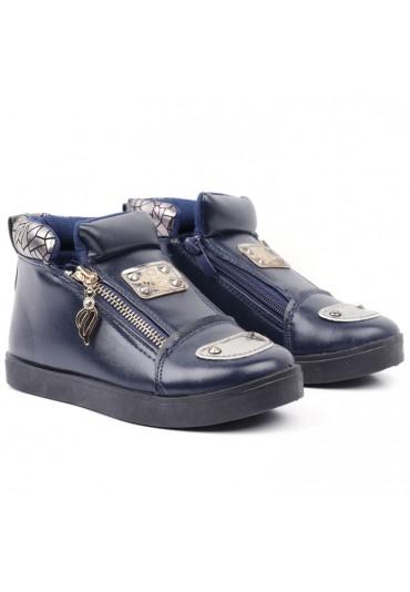 Botki-sneakersy granatowe 4 Volkova