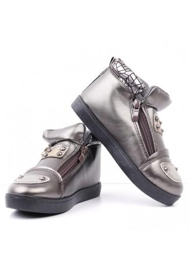 Botki-sneakersy brązowe 3 Volkova