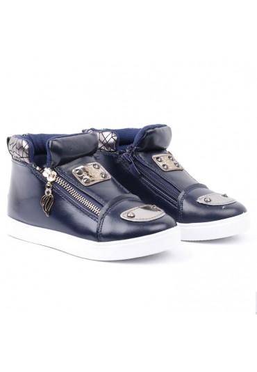 Botki-sneakersy granatowo białe 2 Volkova
