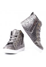 Botki-sneakersy ciemno szare 7 Popoa