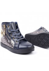 Botki-sneakersy granatowe 2 Popoa