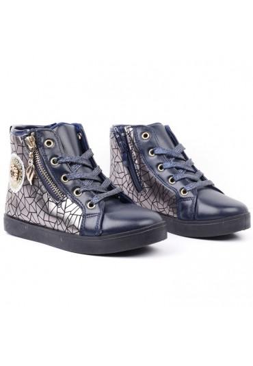 Botki-sneakersy granatowe 2 Evgeniya