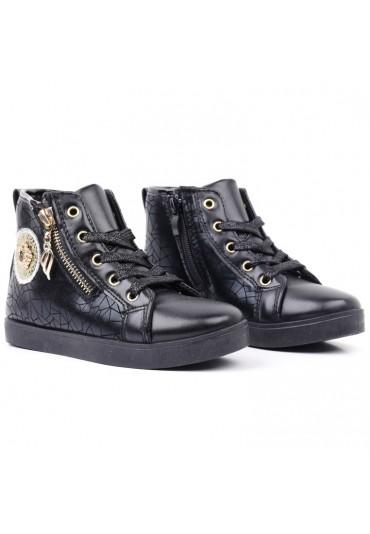 Botki-sneakersy czarne 1 Popoa