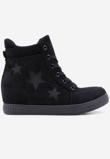 Sneakersy botki czarne 1 Matryosha