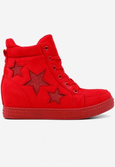 Sneakersy botki czerwone 8 Matryosha