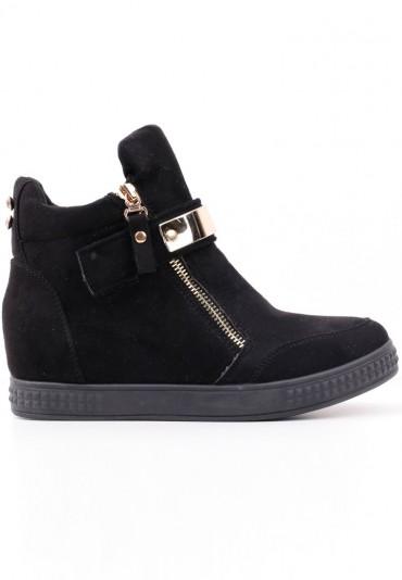Sneakersy botki czarne 4 Akilina