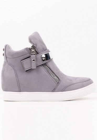 Sneakersy botki srebrne 3 Akilina