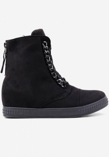Sneakersy botki czarne 2 Vlasova