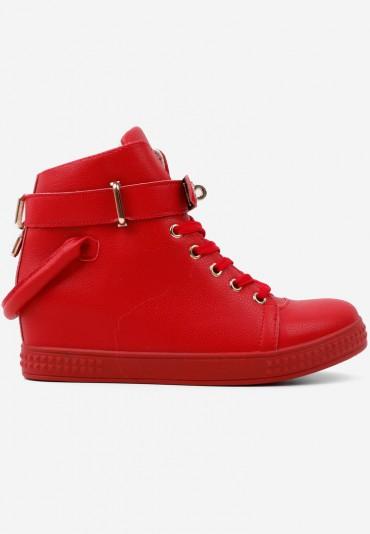 Sneakersy botki czerwone 2 Rurik