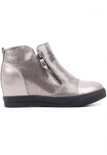 Sneakersy botki ciemno srebrne 10 Théophile