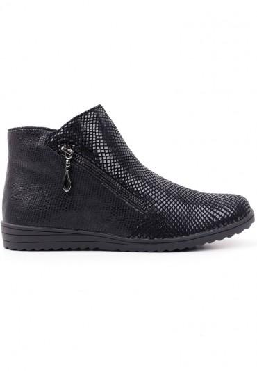 Botki sneakersy płaskie czarne 1 Gusev
