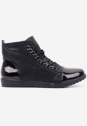 Botki sneakersy płaskie czarne 1 Zaytseva