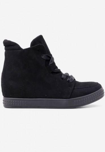 Sneakersy botki czarne 4 Savin