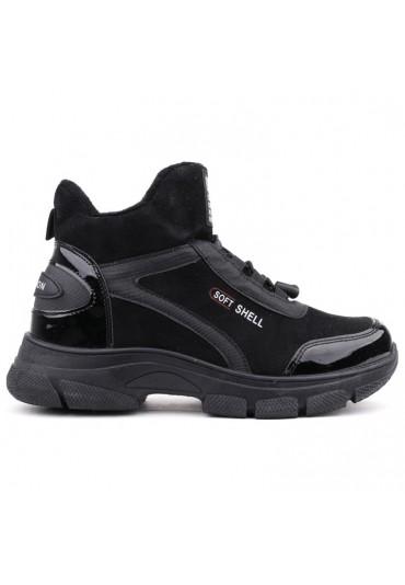 Sneakersy botki czarne lakierowane 1 Florence