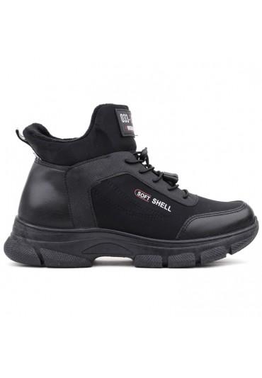Sneakersy botki czarne licowe 2 Brisbois
