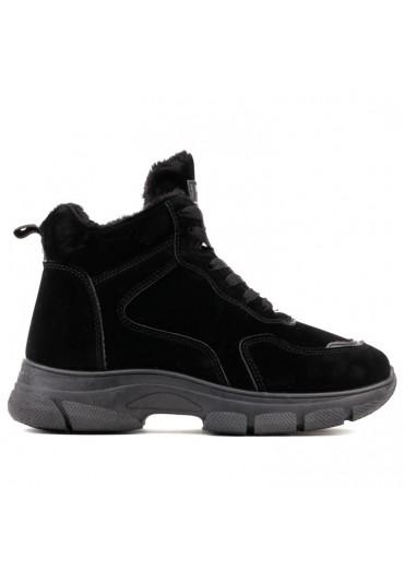 Sneakersy botki czarne zamsz 1 Pettigrew